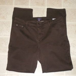 NYDJ Brown Denim Stretch Leggings sz 14